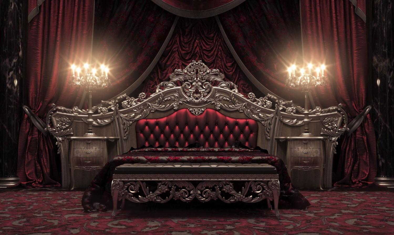 classical royal bedroom red 1500x897 صور غرف نوم كلاسيكية أقرب إلي الملكية