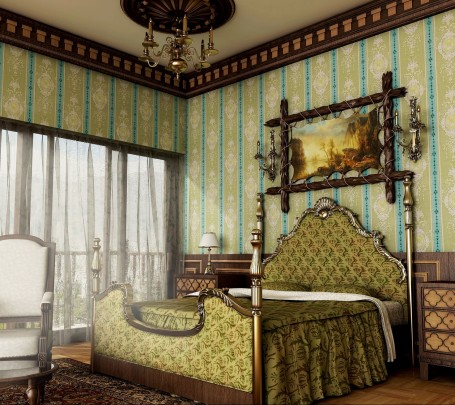 classical-royal-green-bedroom