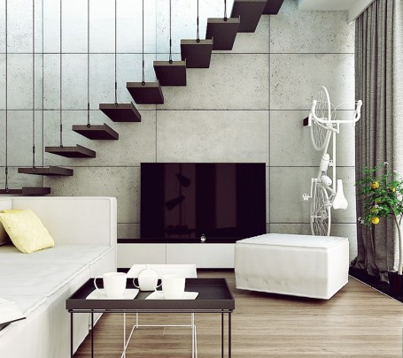 concrete-accent-wall