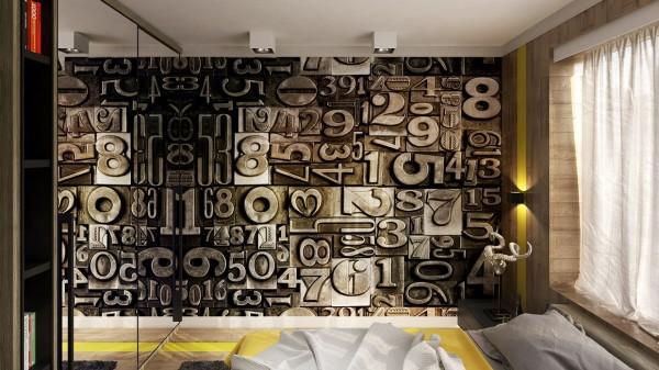 creative wall graphic 600x337 ٦ غرف نوم بتصميم عصري مودرن