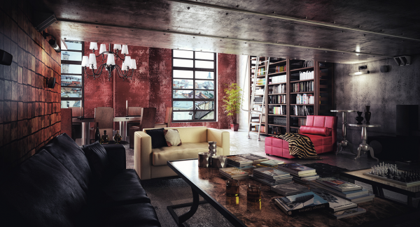 dark-industrial-living-room-600x325