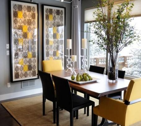 dining-room-decoration-yellow-black