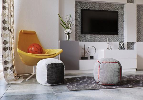 diy ottoman 600x420 تصاميم غرف نوم لأصحاب الذوق الرفيع