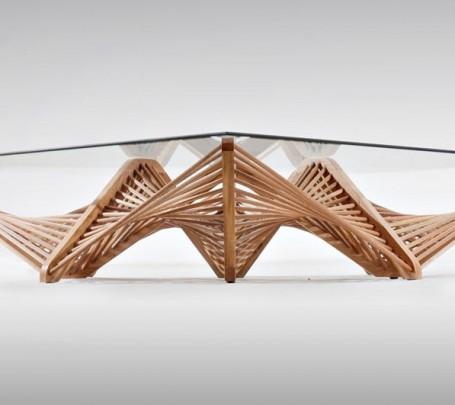 طاولة زجاجية عصرية