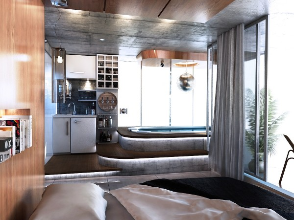 ensuite bath design 600x450 ٦ غرف نوم بتصميم عصري مودرن