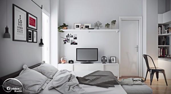 gallery wall ideas 600x333 تصاميم غرف نوم لأصحاب الذوق الرفيع
