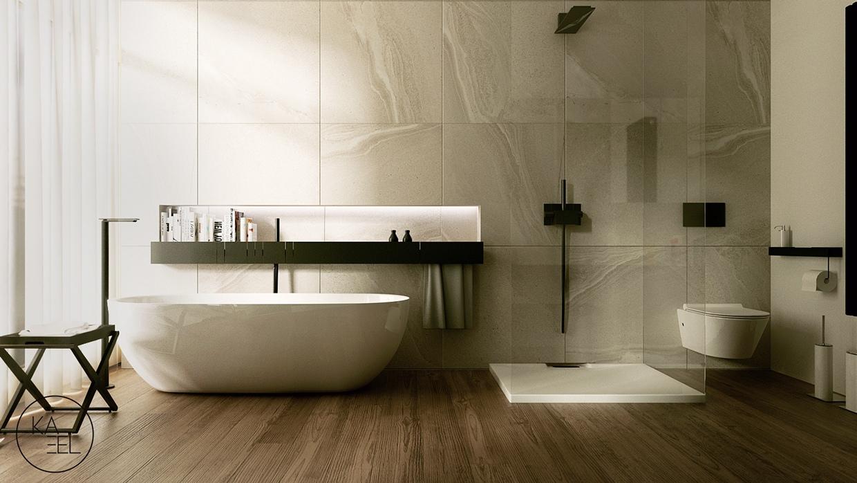 glass shower منزل مودرن يمثل الإبداع في كل أركانة