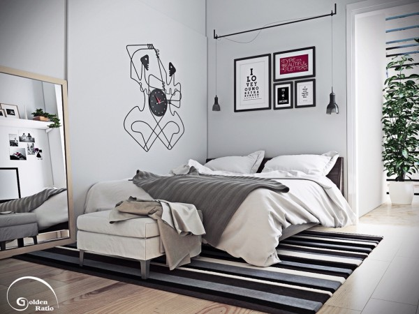 gray palette bedroom 600x450 تصاميم غرف نوم لأصحاب الذوق الرفيع