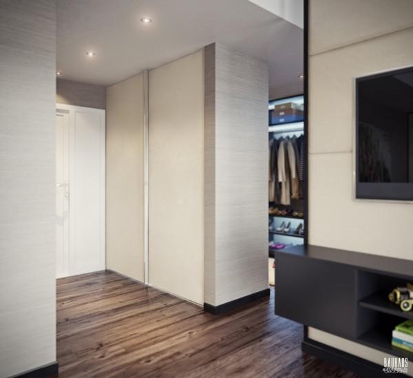 hardwood floor bedroom 600x549 ٦ غرف نوم بتصميم عصري مودرن