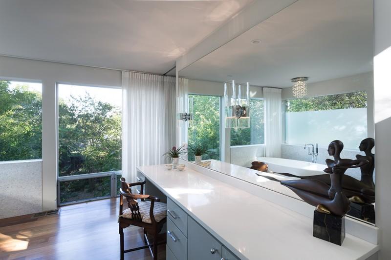 home decoration wide mirrors تصميم منزل عصري يخطف الأنفاس ببساطتة