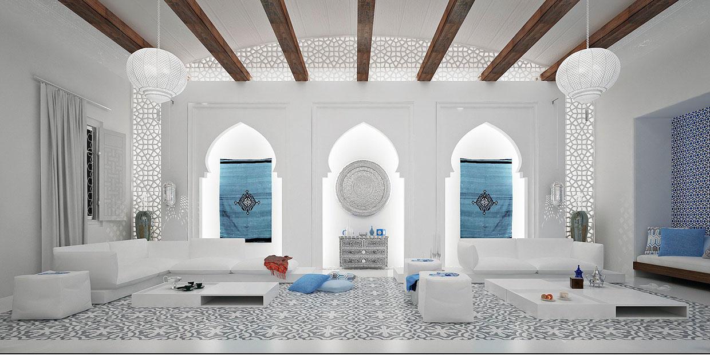 living room 2 التراث العربي والديكور الحديث: مزيج مبهر في غرفة جلوسك
