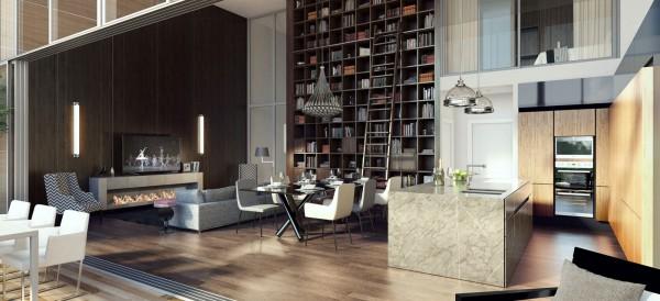 lofted modern design 600x2741 كيف تختارين تصميم غرفة جلوسك في 2016