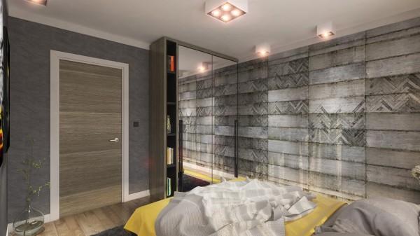 mirrored closet 600x337 ٦ غرف نوم بتصميم عصري مودرن