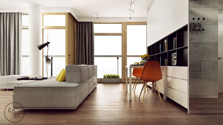 modern apartment design منزل مودرن يمثل الإبداع في كل أركانة