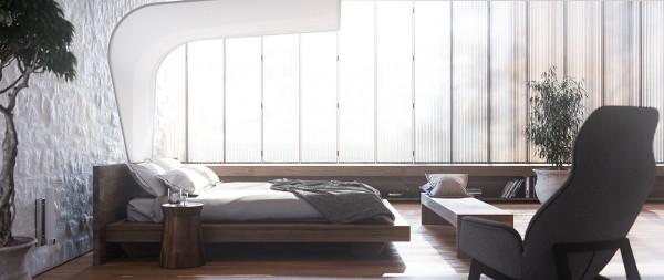 modern bed frame 600x253 تصاميم غرف نوم لأصحاب الذوق الرفيع