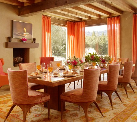 modern-dining-room-orange