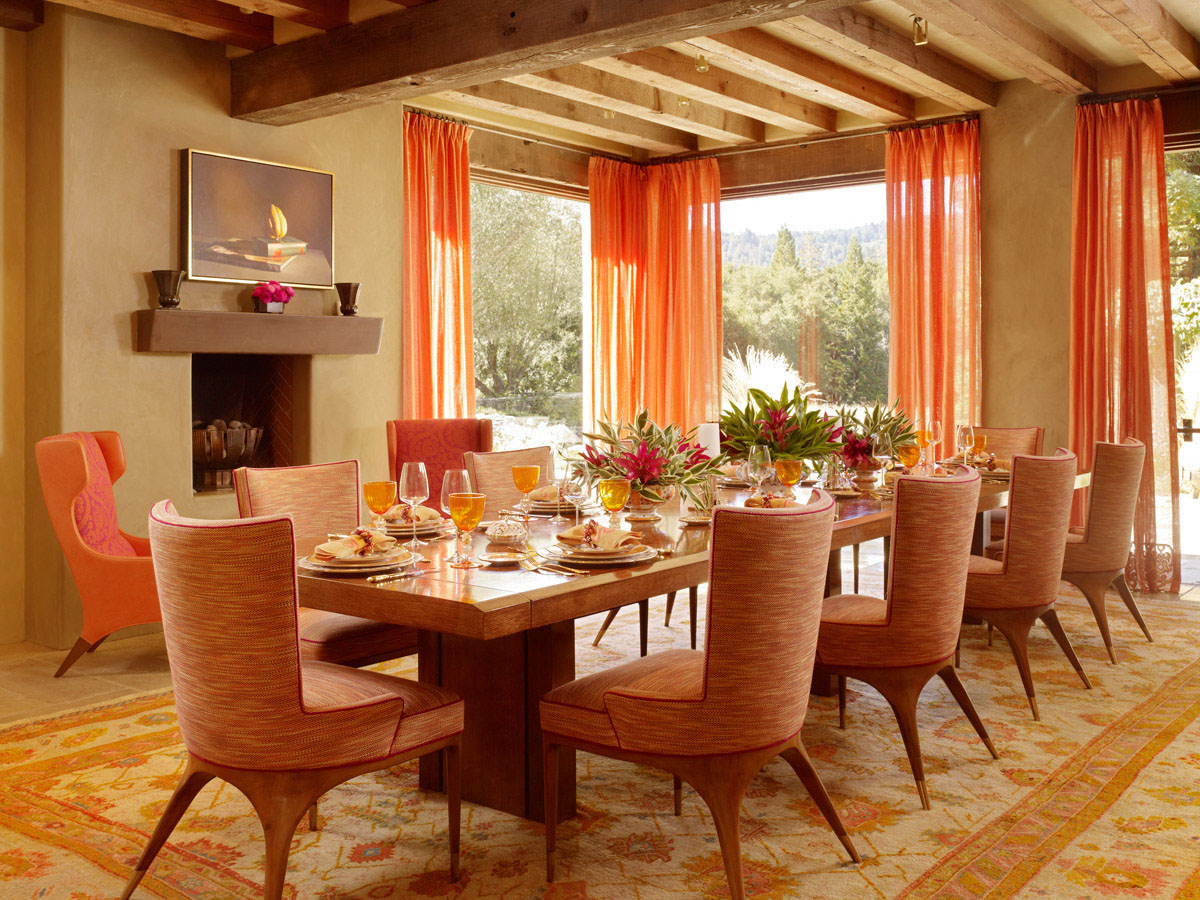 modern dining room orange modern dining room orange