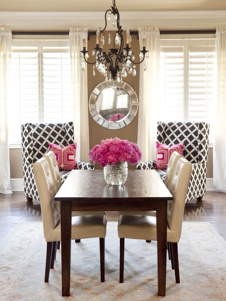modern dining room red roses modern dining room red roses