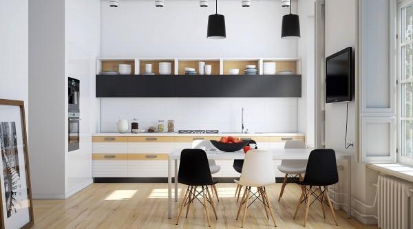 monochrome-kitchen-600x333