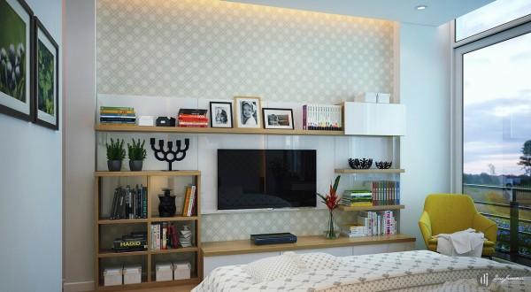 mustard armchair 600x330 تصاميم غرف نوم لأصحاب الذوق الرفيع