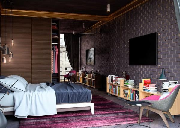 pink and maroon palette 600x428 تصاميم غرف نوم لأصحاب الذوق الرفيع