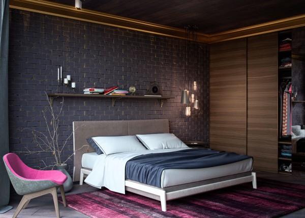 pink upholstered chair 600x428 تصاميم غرف نوم لأصحاب الذوق الرفيع