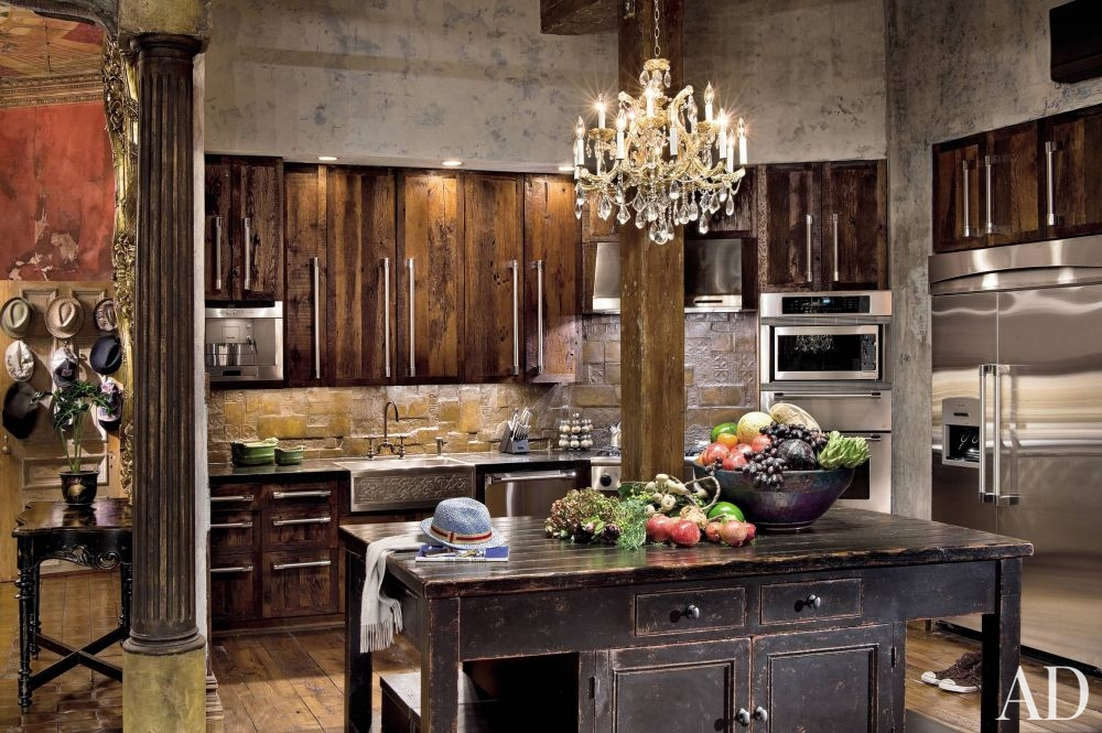 retro kitchen sink decor ideas تصميم مطابخ روستيك خشب مناسبة لأي مساحة