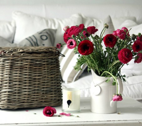 اجعلي الرومانسية عنوان منزلك مع الزهور
