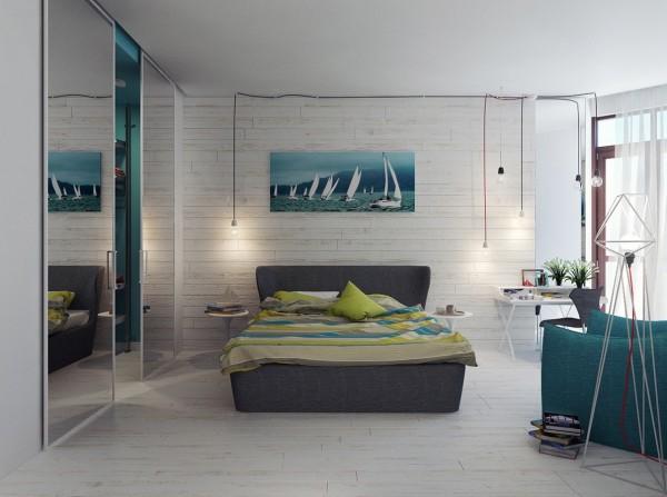 sailboat painting 600x447 تصاميم غرف نوم لأصحاب الذوق الرفيع
