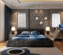 %name simple blue bedroom 210x185