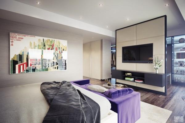 sleek soft bedroom 600x401 ٦ غرف نوم بتصميم عصري مودرن