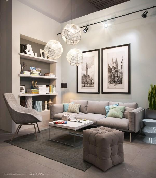 soft gray upholstery 600x6861 كيف تختارين تصميم غرفة جلوسك في 2016