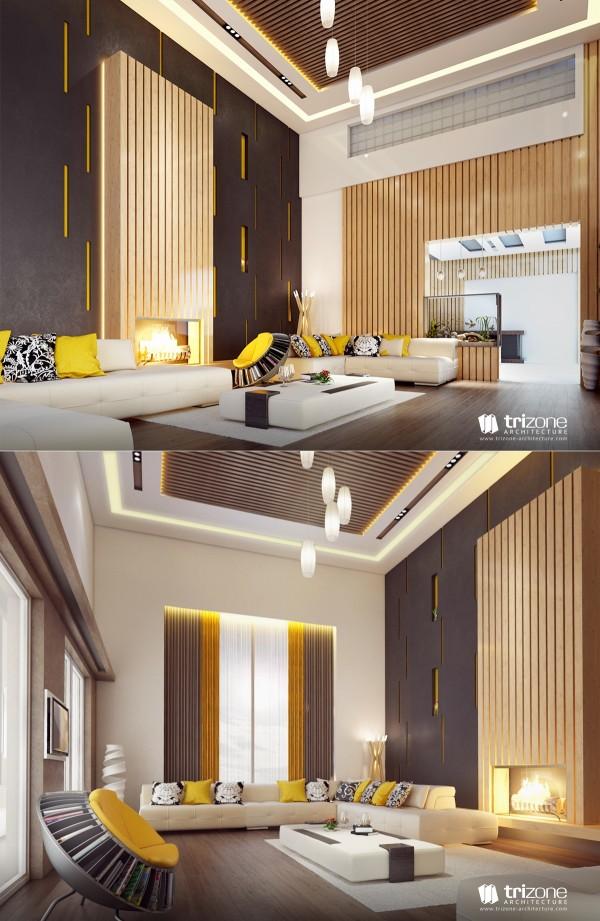 splash of yellow 600x9211 كيف تختارين تصميم غرفة جلوسك في 2016