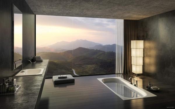 الفخامة بلا حدود في تصاميم حمامات راقية