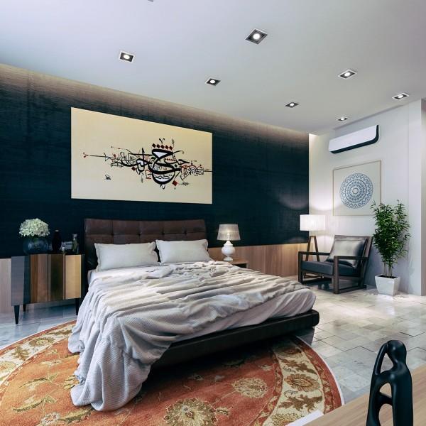 vintage persian rug 600x600 تصاميم غرف نوم لأصحاب الذوق الرفيع