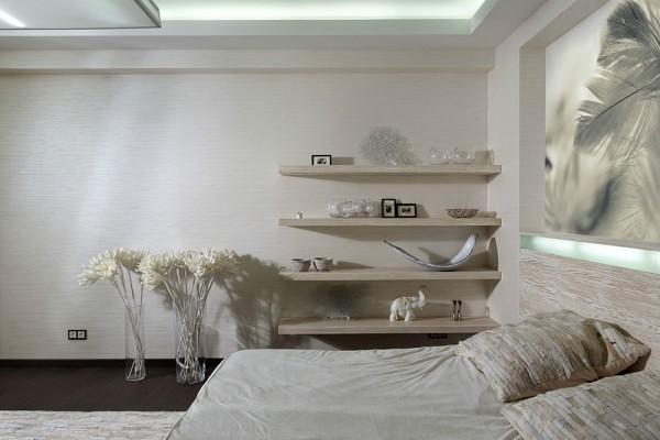 white bedroom color scheme 600x400 ٦ غرف نوم بتصميم عصري مودرن