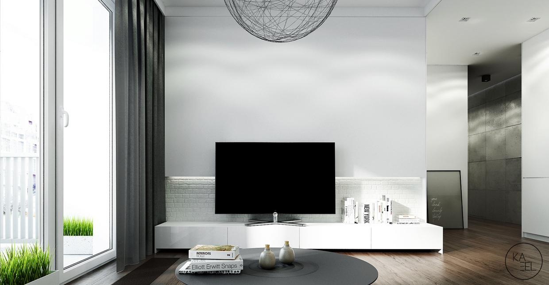 white brick examples منزل مودرن يمثل الإبداع في كل أركانة